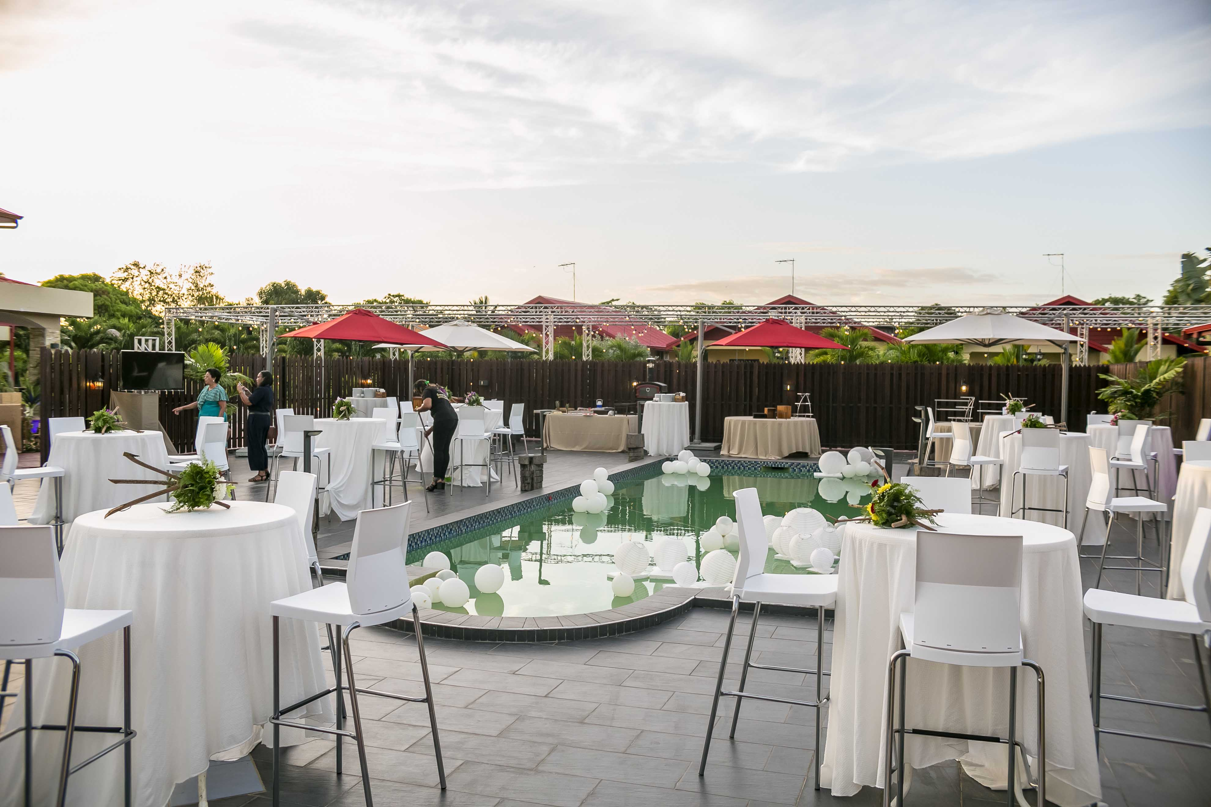 Reception on the Palisade Pool Deck